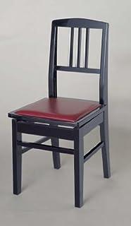 背付ピアノ高低椅子 イトマサNo.5 (黒)