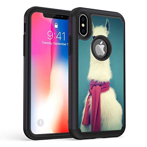 Rossy - Custodia per iPhone X, resistente e ibrida in poliuretano termoplastico, doppio strato di protezione per Apple iPhone X/X da 5,8 pollici