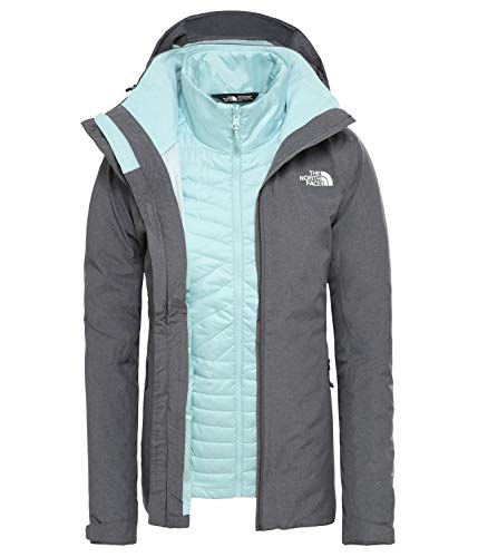 THE NORTH FACE Inlux Triclimate Jacket Women Größe L Vanadis Grey Heather/Windmill Blue