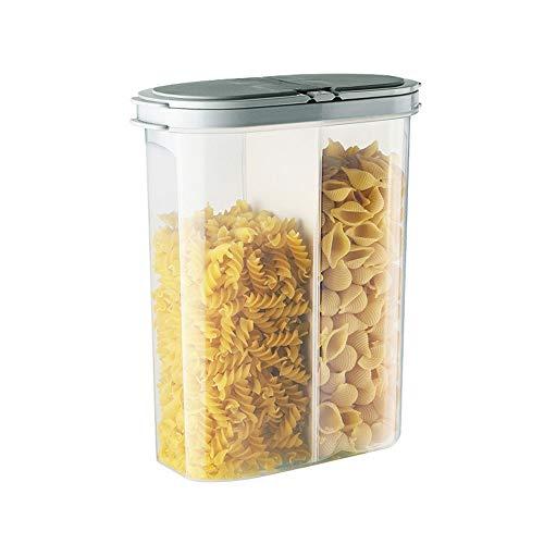 CNTJMJY - Barattolo in silicone ad anello in plastica per frigorifero, ermetico, trasparente, per alimenti e cereali, PP, Grigio, 23X8X19.5CM