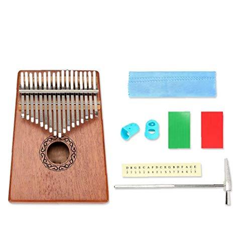 IUwnHceE Kalimba Daumenklavier 17 Tasten Mit Mahagoniholz ??Mbira Finger Piano Builts-in Wasserdichtem Schutz Box