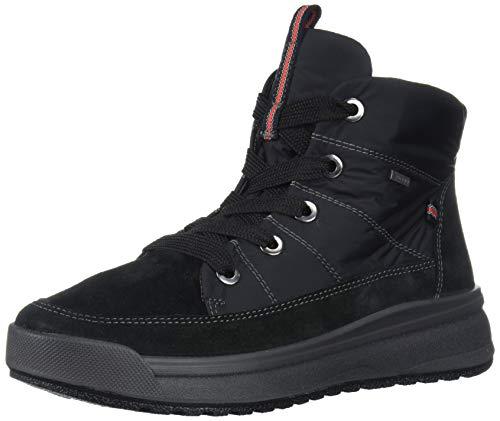 ara Women's Aeryn Ankle Boot, Black Velour-Hydro Snow Soft, 8.5 Medium UK (11 US)