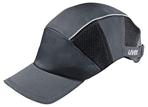 Uvex U-Cap Premium Anstoßkappe - Kopfschutz-Kappe im Armadillo-Design - mit Langem Schirm und Hartschale