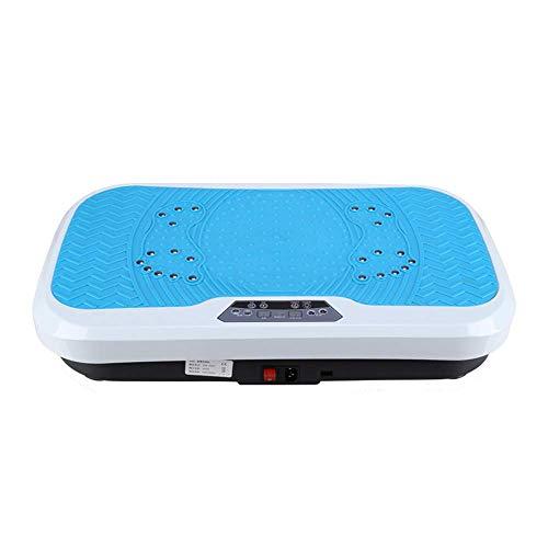 WEWE Entrenador de Placas de vibración Placas vibratorias Power Plate Control Remoto Masaje Corporal Antideslizante Almacenamiento fácil Entrenamiento Equipo de Ejercicio Azul