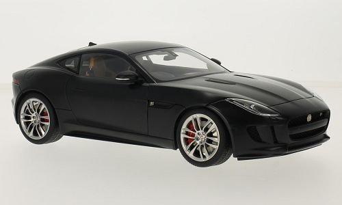 Jaguar F-Type R Coupe, mat- noir, 2015, voiture miniature, Miniature déjà montée, AutoArt 1:18