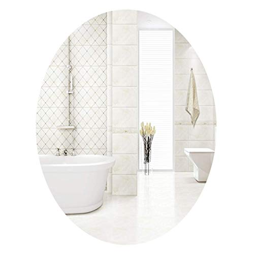 WJSW Ovaler rahmenloser Badspiegel Wandspiegel Waschtisch Schlafzimmer Spiegel Eingangsbereich, Esszimmer, Wohnzimmer Rasierspiegel Großer Kosmetikspiegel