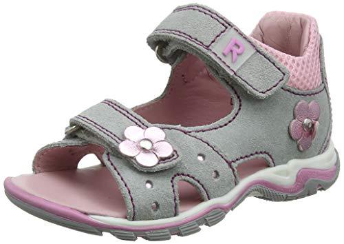 Richter-dziecięce buty typu jumbo z paskiem, szary - Grau Flint Powder Candy 1821-20 EU