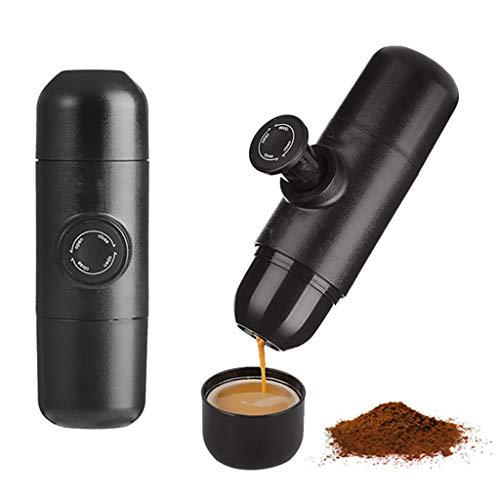 Koffiemachine Draagbaar/capsules Travel koffiezetapparaat Espresso koffiezetapparaat Perfect voor Camping, Reizen, Thuis en op kantoor Zwart