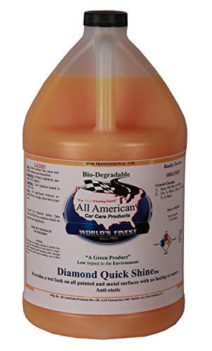 All American Car Care Products Diamond Quick Shine - Premium Finishing Spray-On Polymer Wax (1 Gallon)
