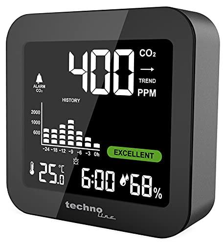 Technoline Monitor WL1025 Co2-Monitor, Co2-Messer, Co2 Messgerät, schwarz