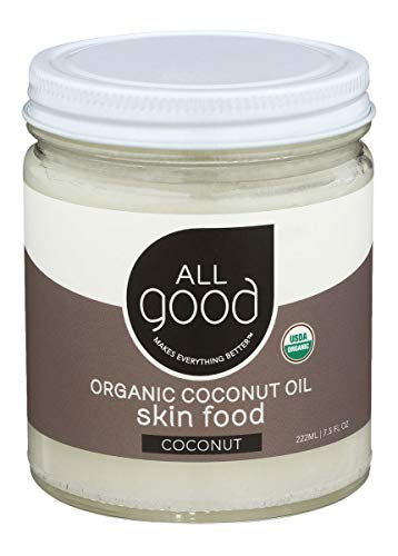 Bio-Kokosöl, Hautcreme, Kokosnuss, 7,5 Flüssigunzen (222 ml) - Elementar Kräuter