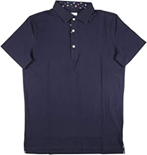 [XXL] [Bagutta] バグッタ 半袖ポロシャツ メンズ 春夏 ネイビー 紺 大きいサイズ [17630] [並行輸入品]