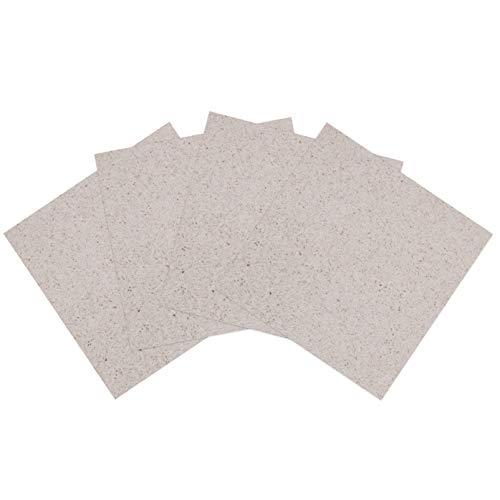 DOITOOL 4 piezas de placas de mica hojas de guía de onda cubierta de horno eléctrico microondas Repalcement piezas 13 x 13 cm