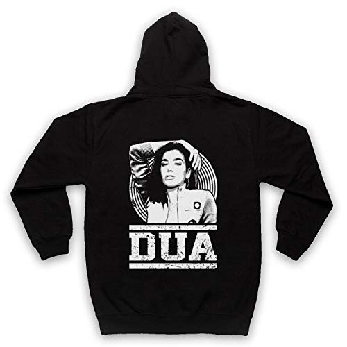 The Guns Of Brixton Dua Lipa Tribute Sweat a Capuche avec Un Fermeture Eclair des Adultes, Noir, XL