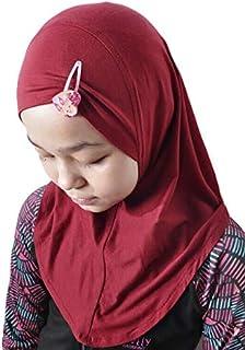 Silk Story Handmade Nur Girls Kids 1 piece Amira Practical Hijab Headscarf Instant Scarf Cotton Jersey Comfort Headwear