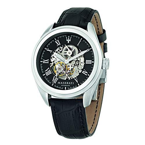 Herrenuhr, Kollektion Traguardo, Automatik-Uhrwerk, nur mit Zeitanzeige, aus Edelstahl und Leder - R8871612001