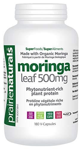Prairie Naturals Organic moringa leaf vcaps 180 Count