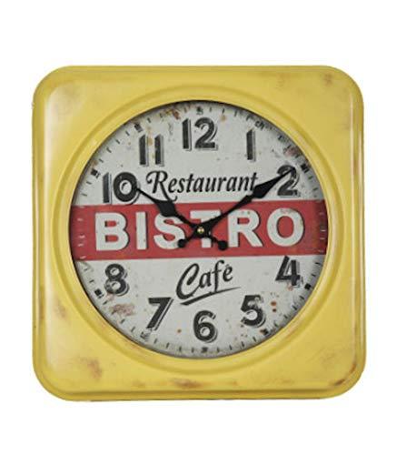 Vintage Keukenklok Bistro Café 35x35cm