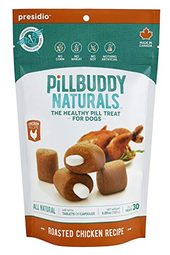 Pill Buddy Naturals Grilled Chicken Recipe for Dogs 1 Pack 30Count