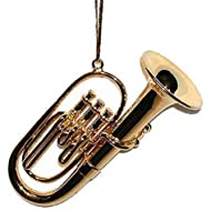 Broadway Gifts Gold Tuba Musical Metal Ornament