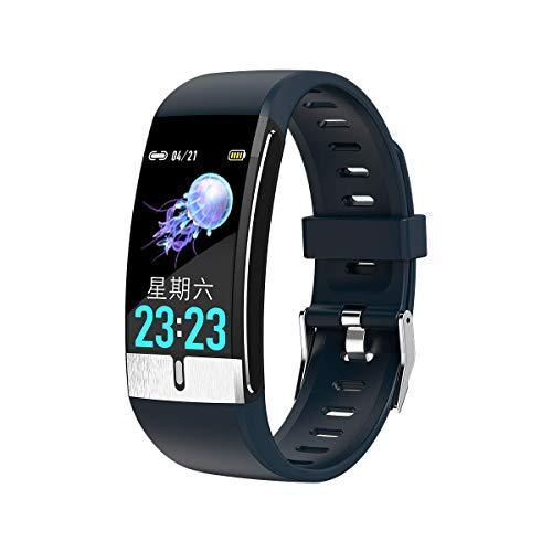 OH Moda E66 Smart Watch Ecg Medición de Temperatura Corazón Presión Arterial Pulsera de Oxígeno Pulsera Salud Pulsera Smart Band Desgaste diario/Azul