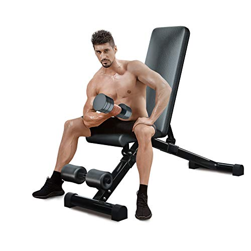 Product Image 1: Urchin Adjustable Strength Training Bench for Full Body Multi-Functional Workout Exercise Dumbbell Bench Press Work Out GYM Weight Entryway Bench (Large)