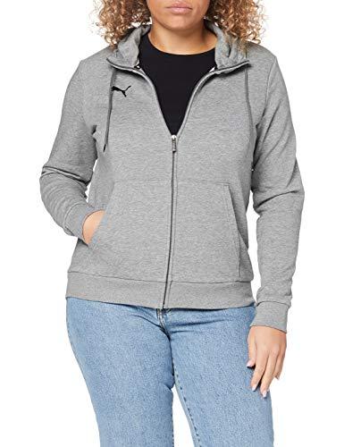PUMA Damen teamGOAL 23 Casuals Hooded Jacket W Trainingsjacke, Medium Gray Heather, XL