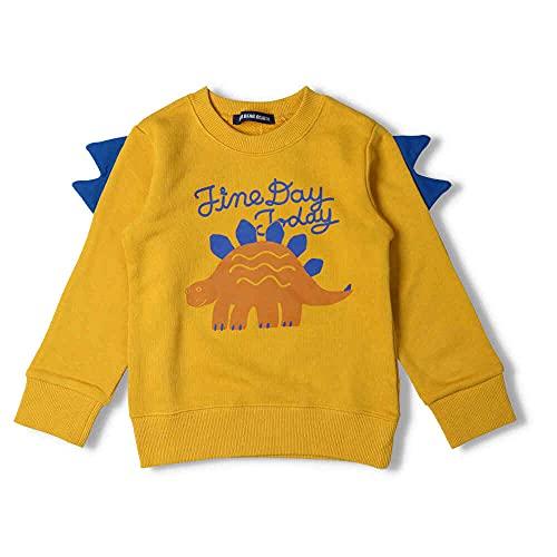 【子供服】 LITTLE BEAR CLUB (リトルベアークラブ) 恐竜背びれ付裏毛トレーナー 80cm〜130cm S54603
