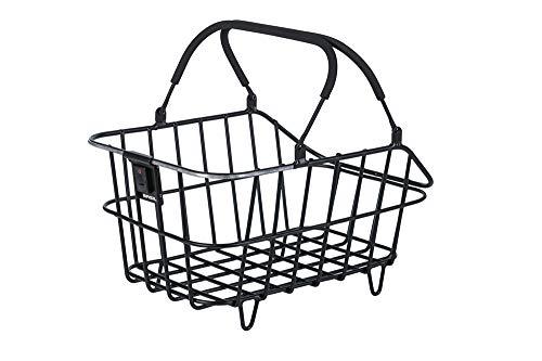Basil Unisex– Erwachsene Cento Alu Nordlicht Fahrradkorb, schwarz, 5 Kg