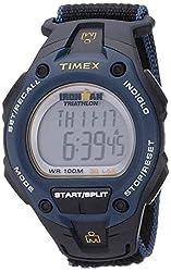 cheap Timex Men's T5K413 Iron Man Classic 30 Oversized Watch Black / Blue / Yellow Quick Velcro Closure