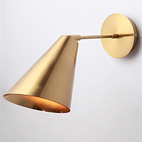 OOFAY LIGHT Lampada da Comodino postmoderna Camera da Letto Studio corridoio Luce Lampada da Parete in Ferro battuto Dorato