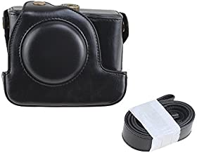 Black PU Leather Camera Case Bag Pouch & Strap Belt for Canon Powershot G15 G16