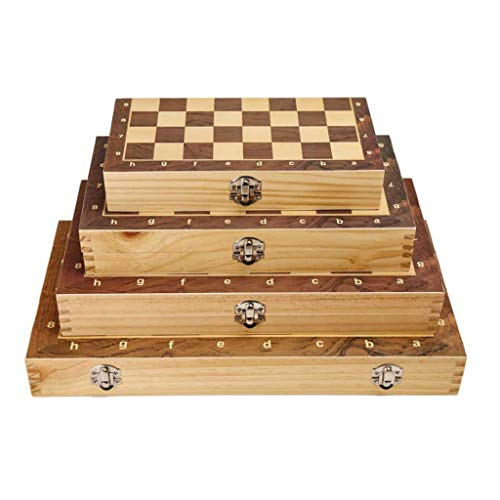 Yxxc Large full size Large full size Chess Magnetic Wooden International Chess Set With Internal Storage Foldable Portable Chess Board Games Engaged Birthday Gift Chess Board (Size : 29cm)