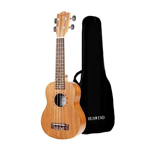 Hua Wind Ukulele soprano in mogano 23 pollici Ukulele hawaiano avviamento a 4 corde per principianti ukulele soprano con custodia morbida