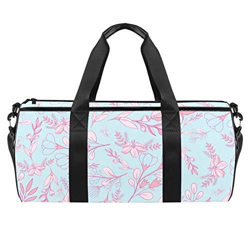Bolsa de viaje para playa grande para gimnasio, gimnasio, bolsa de hombro con impresión sin costuras, con bolsillo seco y húmedo