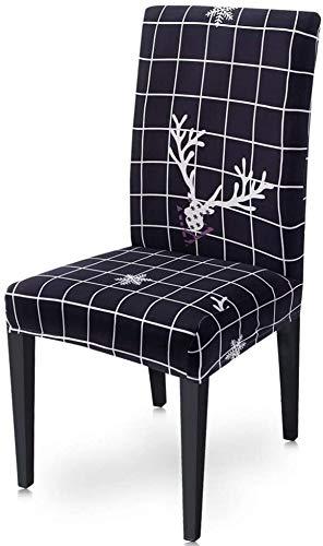 YMYP08 Stuhlbezug für Esszimmerstühle, waschbar, abnehmbar, Stretch, Universalgröße (Farbe: Stil 1, Größe: 1 Stück)