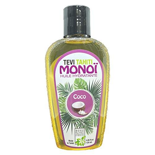 Aceite autobronceador COCO, monoi Tahiti 98% puro, autobronceador, acelerador natural del bronceado, bronceado rápido sensual, botella de vidrio de 120 ml, vegano, libre de crueldad