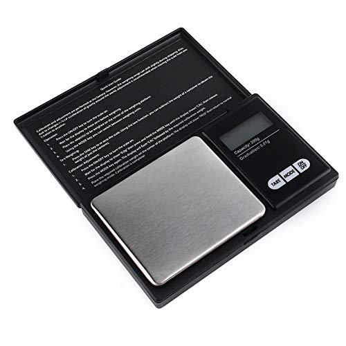 IVY Mini Pocket Digitalwaage, Taschenwaage, beleuchtetes LCD-Display, Mini Digitalwaage, für Silbermünzen, Goldschmuck-Nachfüllungen und Küchenwaagen (200 g, 0,01 g)