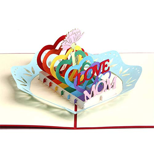 3D Cards pop up Mothers Day Three-Dimensional Paper Carving Handmade Mother s Day Card Gift Birthday Anniversary Greeting Cards