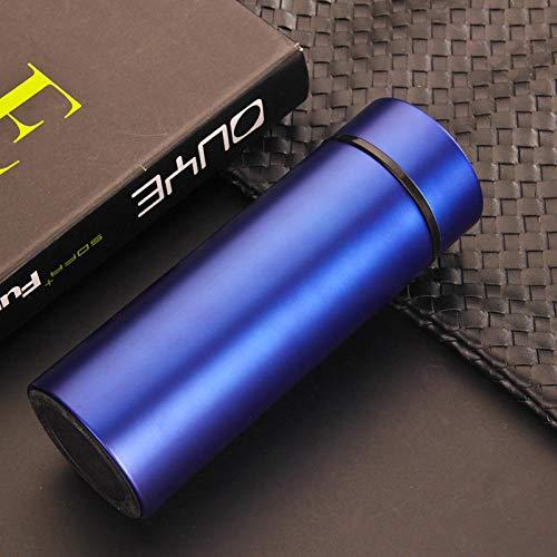 Jusemao Botella de agua de vacío de negocios Botella de agua de acero inoxidable Thermos 450ml 12/Hot-blue_450ml