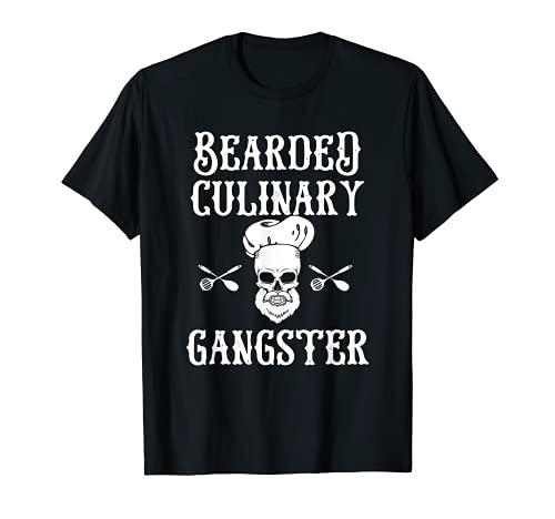 Bearded Culinary Gangster Vintage Cooking Guru T-Shirt