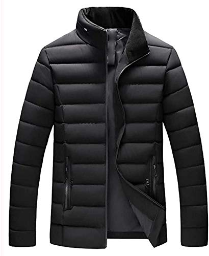 Men's Packable Down Coat High Neck Padded Casual Zipper Jacket Top