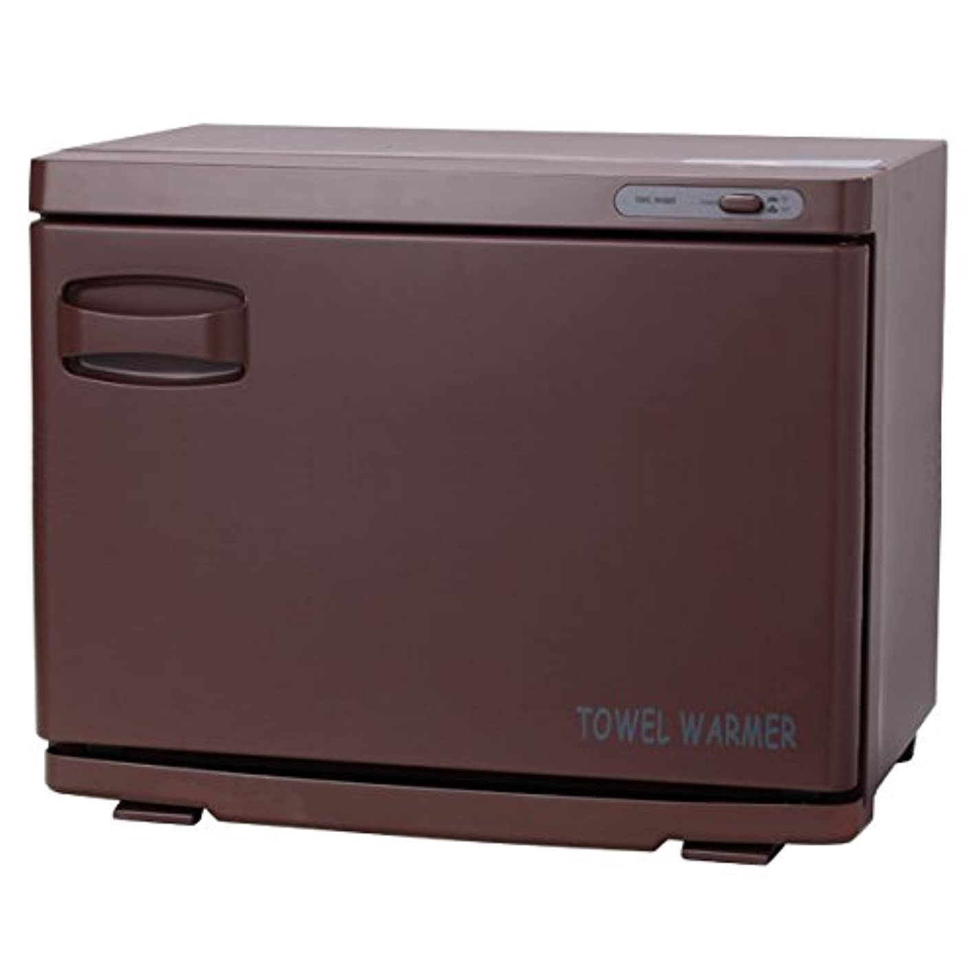 散逸色ドラフトタオルウォーマー ブラウン ( 前開き ) 18L 業務用 タオル蒸し器 おしぼり蒸し器 保温器