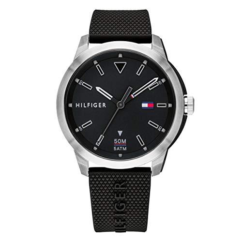 Tommy Hilfiger Reloj Analógico para Hombre de Cuarzo con Correa en Silicona 1791622