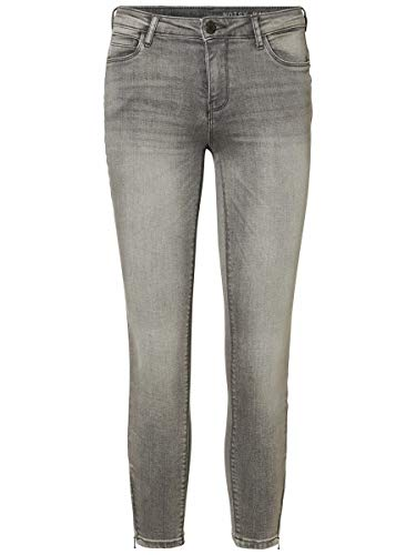 Noisy may Female Skinny Fit Jeans NMKIMMY Cropped Normal Waist 3030Light Grey Denim
