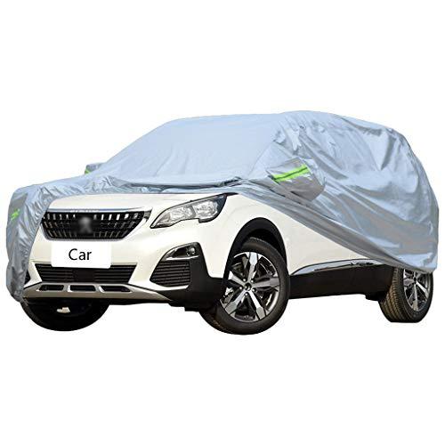 Couverture de voiture Compatible avec la couverture de voiture Peugeot 3008 VUS Oxford épais tissu Sun Protection pluie et antigel couverture de voiture chaude