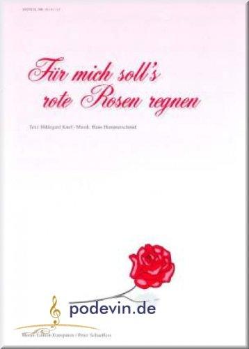 Hildegard Knef - Für mich soll's rote Rosen regnen - Gesang und Klavier Noten [Musiknoten]