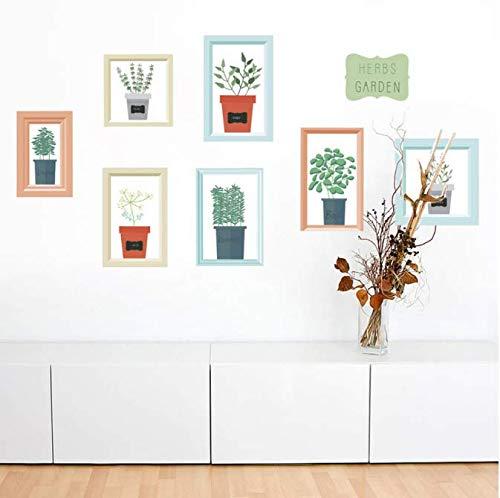 Muurstickers voor in de tuin, bloemen, planten, wandsticker, slaapkamer, woonkamer, kinderkamer, wandtattoos, home tv, achtergrond, bank, 60 x 40 cm