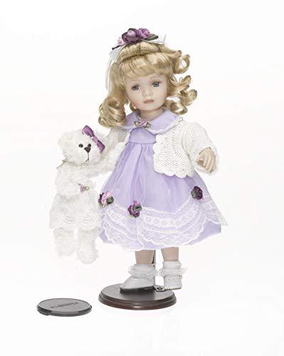 RF Collection, Sammlerpuppe, Künstlerpuppe, Porzellanpuppe mit Teddy 36cm 119909