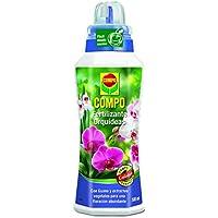 Compo Fertilizante para orquídeas, para Plantas sensibles, con Guano y extractos Vegetales, 500 ml, 23x7x6.3 cm